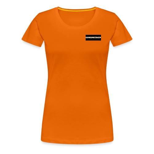 Concentrate on black - Women's Premium T-Shirt