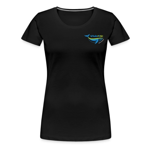 WF Logo With Strap WHITE png - Women's Premium T-Shirt