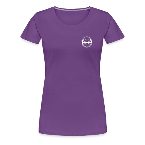 Hvit NAF logo - liten - Premium T-skjorte for kvinner