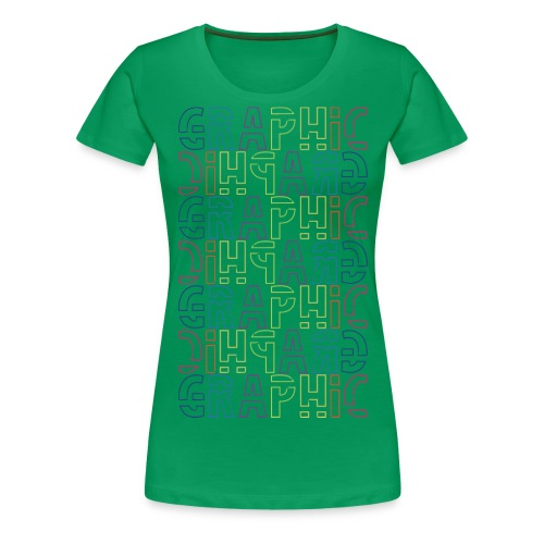 graficzny - Koszulka damska Premium