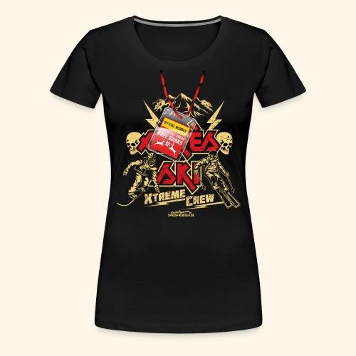 Apres Ski T Shirt Apres Ski Xtreme Crew - Frauen Premium T-Shirt