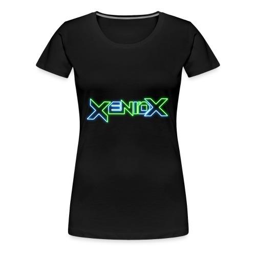 Xeniox Neon Logo - Women's Premium T-Shirt