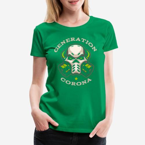 corona generation covid - Frauen Premium T-Shirt