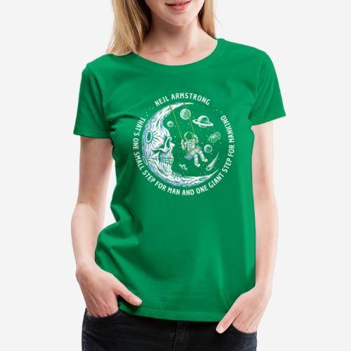 moon astronaut stars space - Frauen Premium T-Shirt