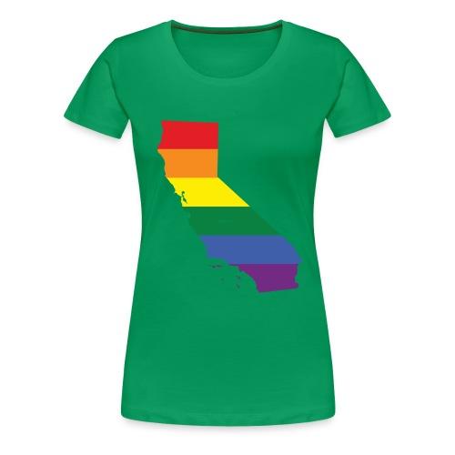 California Rainbow Flag - Women's Premium T-Shirt