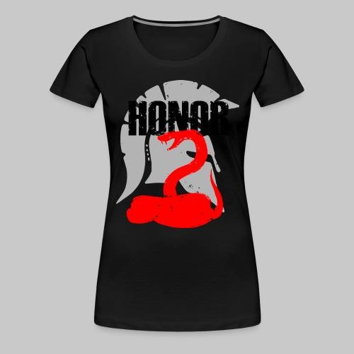 2reborn spartan honor ehre sparta schlange snake e - Frauen Premium T-Shirt