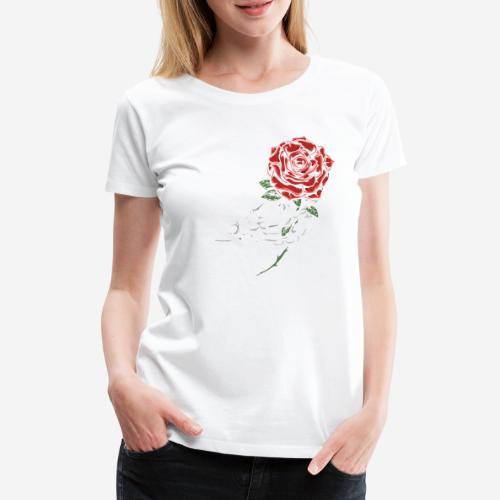 Schädelknochen Rosen - Frauen Premium T-Shirt