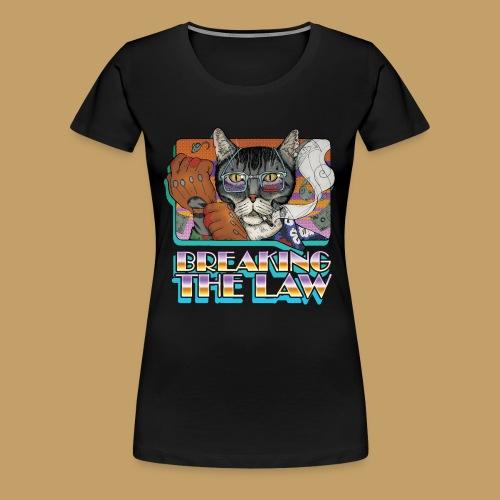 Crime Cat- Breaking the Law - Koszulka damska Premium