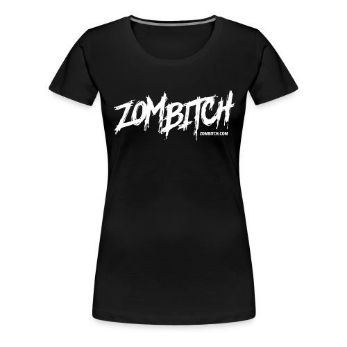 zombitch-text-noshade - Women's Premium T-Shirt