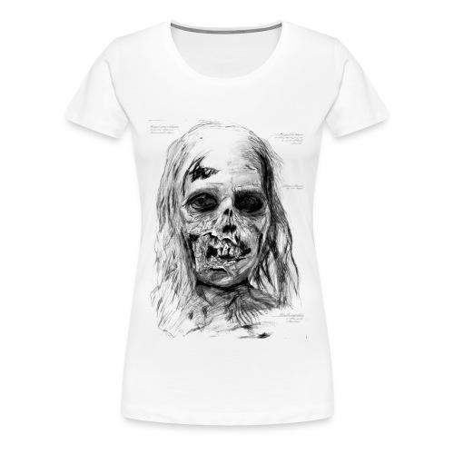 Zombie Kopf - Frauen Premium T-Shirt