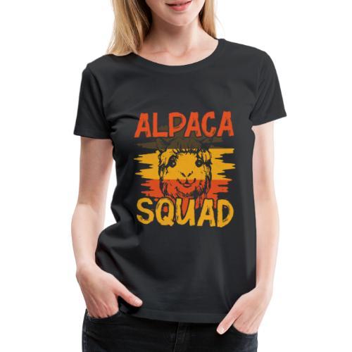 ALPACA SQUAD - Frauen Premium T-Shirt