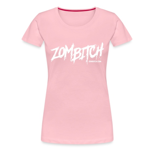 zombitch-text-noshade - Women's Premium T-Shirt