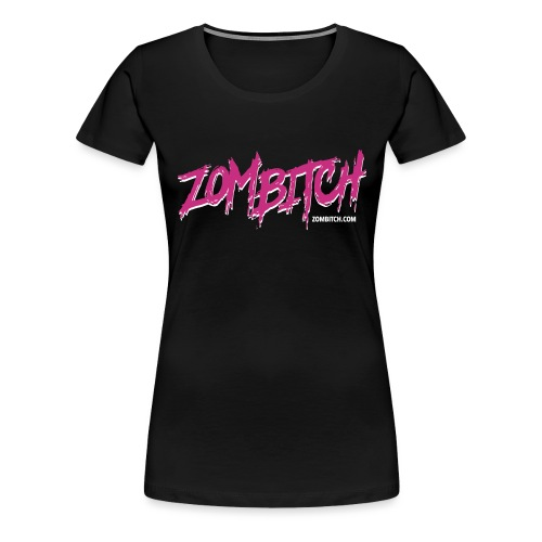 Zombitch logo black - Women's Premium T-Shirt