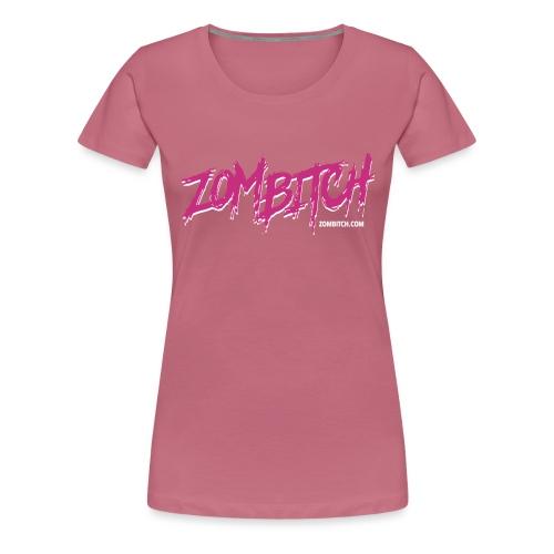 Zombitch logo black - Women's Premium T-Shirt