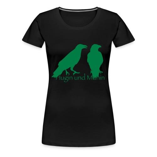 Hugin und Munin - Frauen Premium T-Shirt
