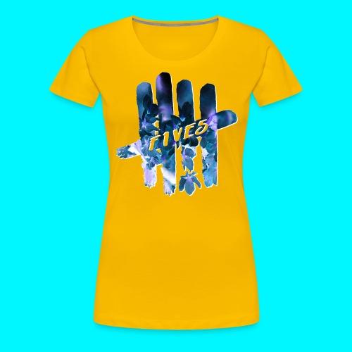 FIVES space flowers - T-shirt Premium Femme