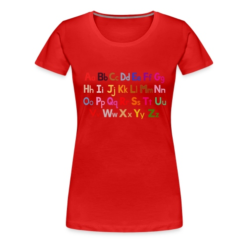 alphabet 2 - Women's Premium T-Shirt
