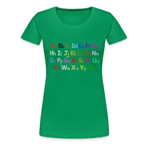 alphabet 2 - Women's Premium T-Shirt