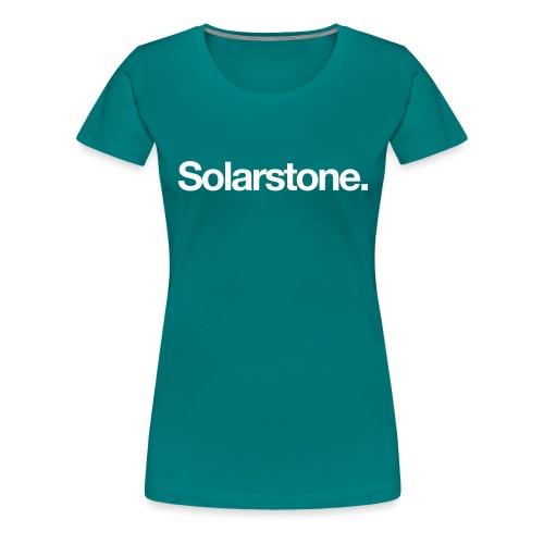 Solarstone Logo White - Women's Premium T-Shirt