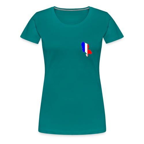 Carte Territoire de Belfort bleu blanc rouge - T-shirt Premium Femme