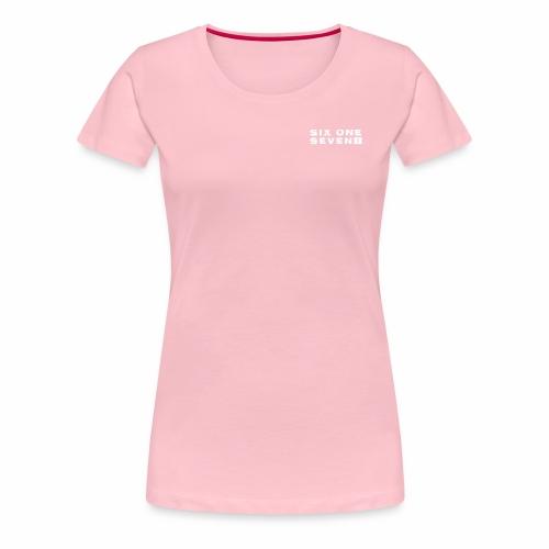 SIX ONE SEVEN 1 PROJECT LOGO FULL 1 WHITE - Women's Premium T-Shirt