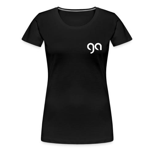 Logo Gymnasium Altlünen weiss - Frauen Premium T-Shirt