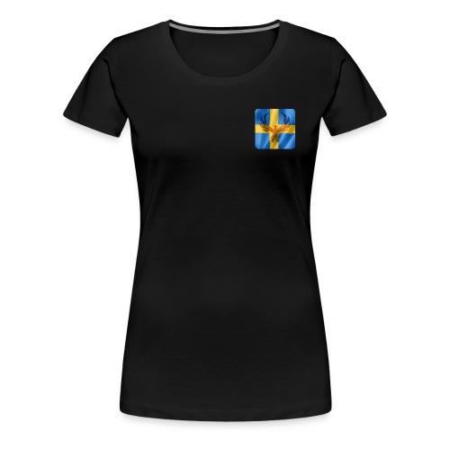 Swedish Phoenix klara färger - Premium-T-shirt dam