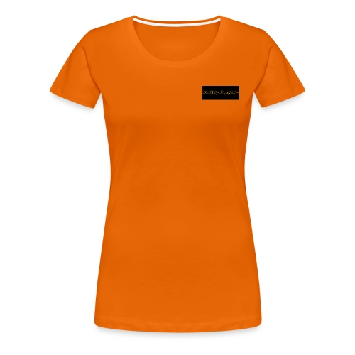 orange writing on black - Women's Premium T-Shirt