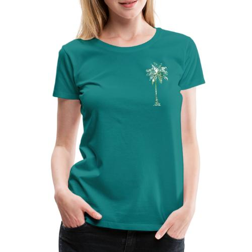 Fancy Palme Grün - Frauen Premium T-Shirt