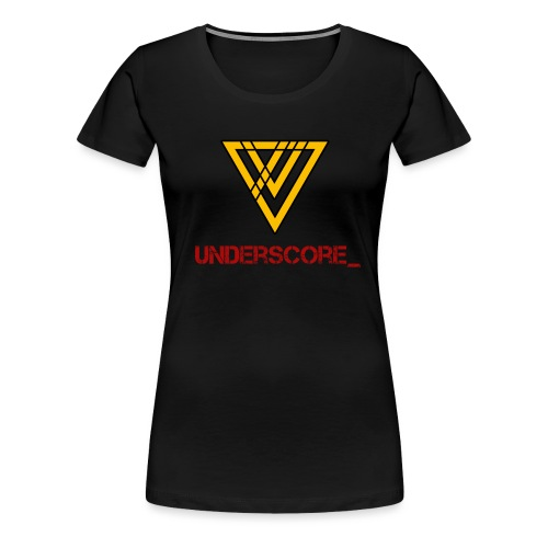 Underscore Yellow Red - Women's Premium T-Shirt