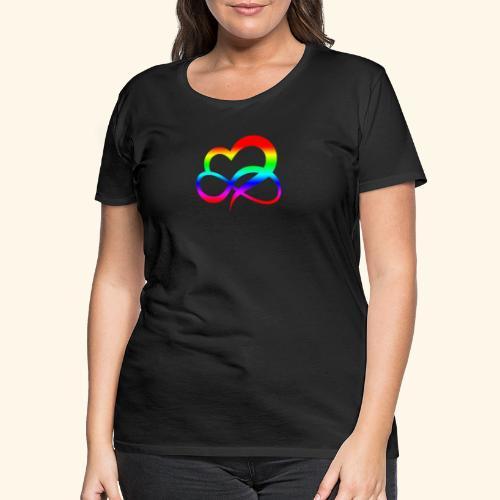 ZEICHEN LIEBE BEZIEHUNG LGBT REGENBOGEN GESCHENK - Frauen Premium T-Shirt
