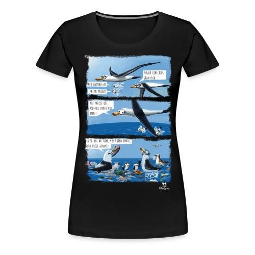 El plástico y las aves pelágicas. - Camiseta premium mujer