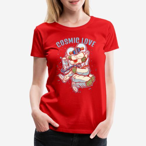 kosmische Liebe Astronautenraum - Frauen Premium T-Shirt