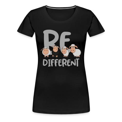 Be different Schafe: Einzigartiges schwarzes Schaf - Frauen Premium T-Shirt