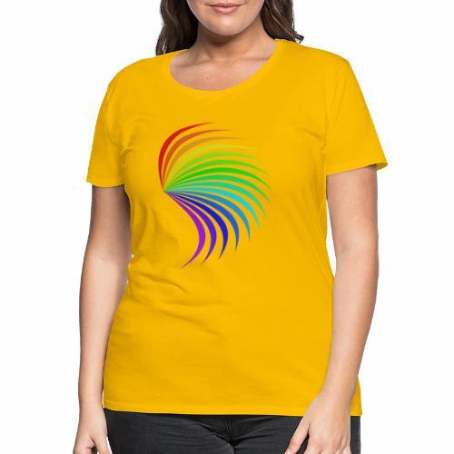 Kolorowe skrzydło - Koszulka damska Premium