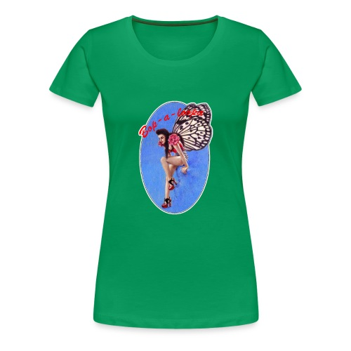 Vintage Rockabilly Butterfly Pin-up Design - Women's Premium T-Shirt