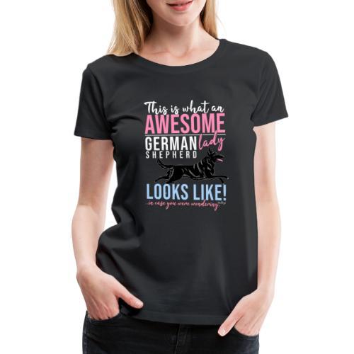 Awesome GSD Lady III - Naisten premium t-paita