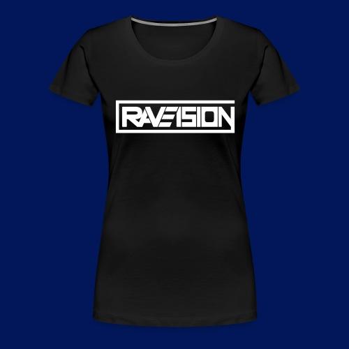 Raveision logo white - Frauen Premium T-Shirt