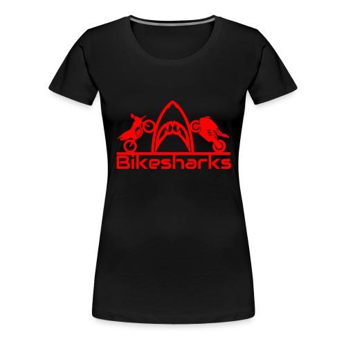 Bikesharkslogo Rot - Frauen Premium T-Shirt