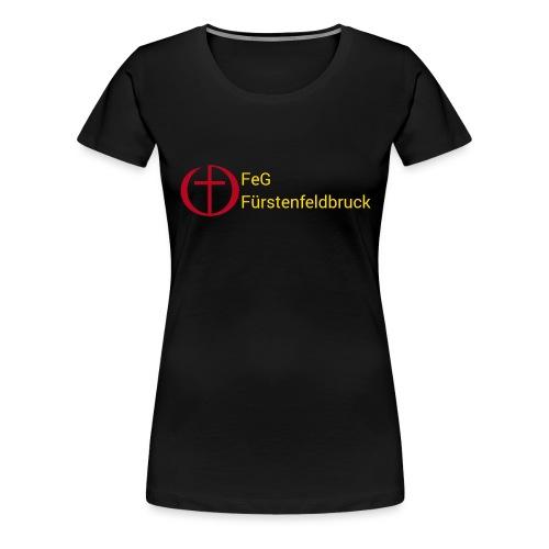 Logo FeG FFB mit Text - Frauen Premium T-Shirt