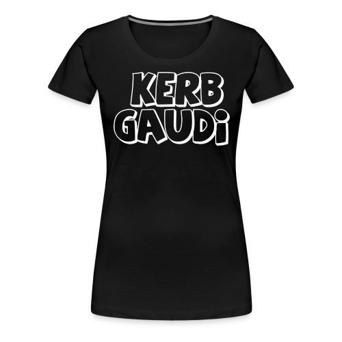 weiß-Rand - Frauen Premium T-Shirt