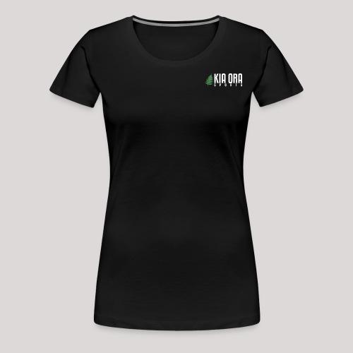 logo mit weißer schrift s - Frauen Premium T-Shirt