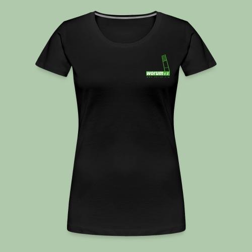 110608worumlogo4c1 - Frauen Premium T-Shirt