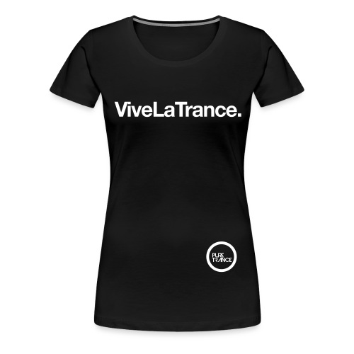 pt1tshirt vivelatrance 1colouronblackoutlined - Women's Premium T-Shirt