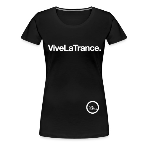 pt1tshirt vivelatrance 1colouronblackoutlined - Women's Premium T-Shirt