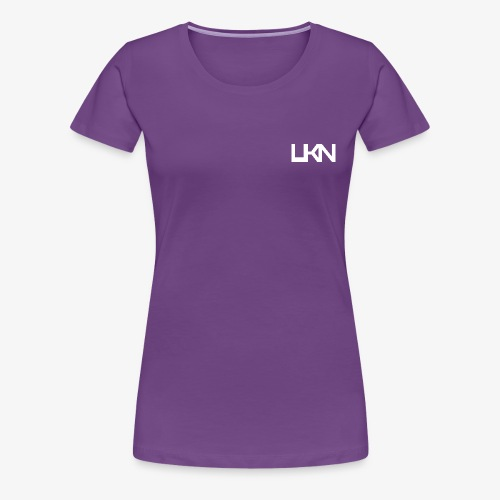 UKN Just White Text - Women's Premium T-Shirt