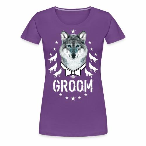 161 Wolf JGA GROOM Wolfpack Sterne - Frauen Premium T-Shirt