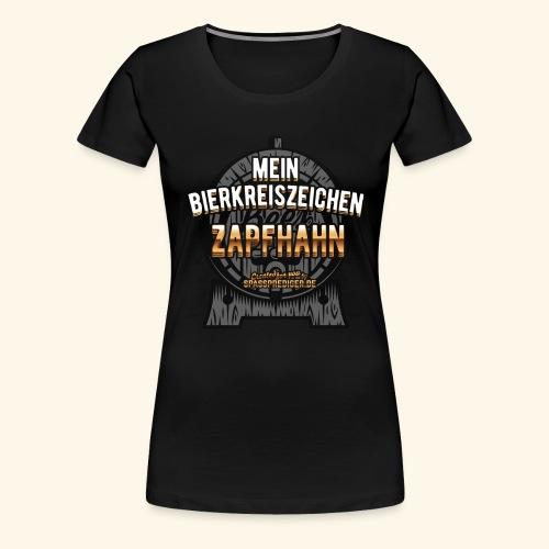 Lustiges Biershirt-Design Bierkreiszeichen - Frauen Premium T-Shirt