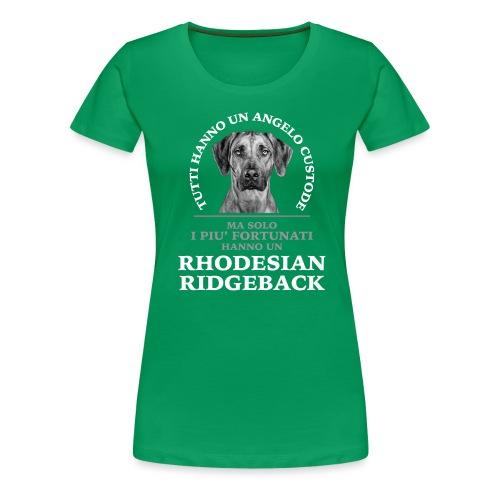 Rhodesian Ridgeback Angelo Custode Nero - Maglietta Premium da donna