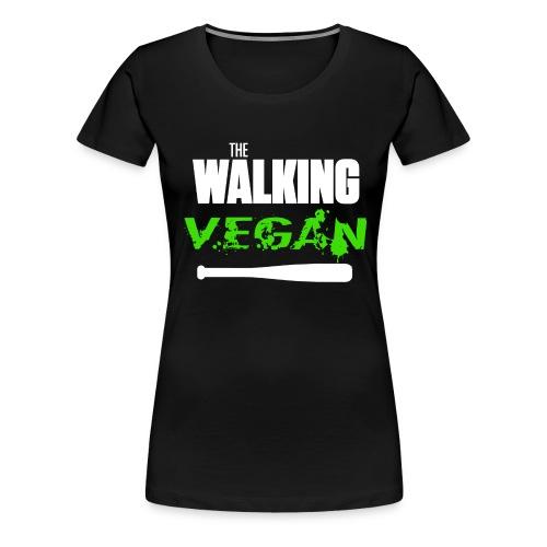 walking vegan 1 - T-shirt Premium Femme